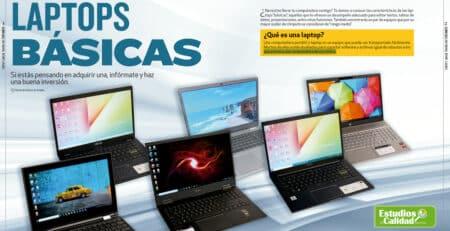 Estudio de calidad Laptops básicas